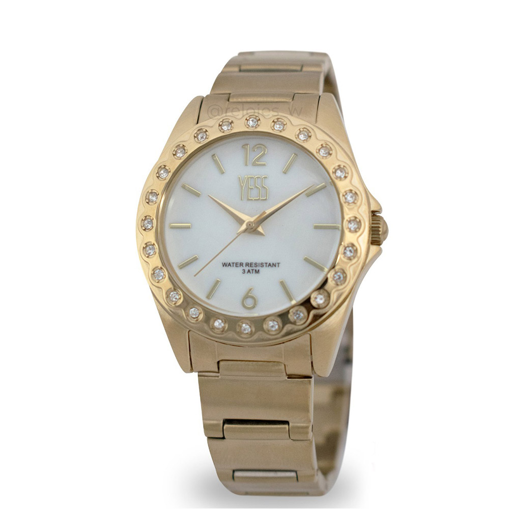 8f7222179edc Reloj Mujer Yess All Gold- 012022a-g – BigTime